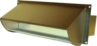 copper range hood vent for exterior wall