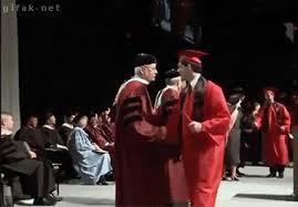 Гифка Сальто после получения диплома  Сальто после получения диплома