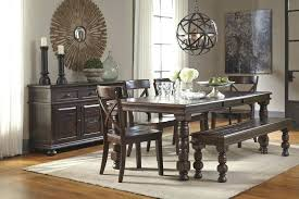 ashley furniture pub table set round