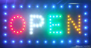 Satın Al Süper Parlak 2 Renk AÇIK Işıklı Yanıp Sönen LED Işareti Işık  Dükkanlar Için Vitrin 48 Cm X 25 Cm X 2 Cm, TL183.84