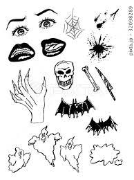 ハロウィン 手描きアメコミ風イラストのイラスト素材 32098289 Pixta