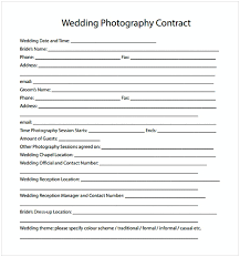 Photography Contracts Example Wedding Photographer Contracts 9 Payroll Slip