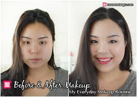 before and after makeup everyday asian makeup tutorial