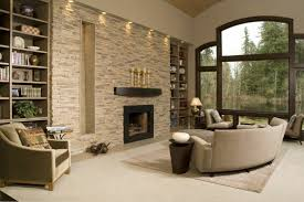 stone living room wall accent fireplace wall unusual sofa