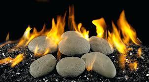 gas log fireplace lava rocks embers glass ventless