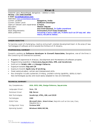 New Resume Format For Freshers Example Of Best Resume Format For