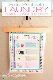 Free Printable Laundry Chart I Should Be Mopping The Floor