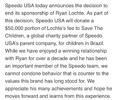 speedo usa on the official response regarding our  never miss a moment