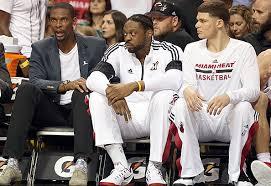 NBA News Chris Bosh Back On Miami Heat Bench After Blood Clot Heat Bench