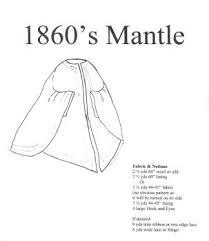 Period Impressions Size Chart 1860s Civil War Era Mantel Pattern