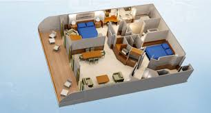 2 bedroom suite. stateroom layout provided by dreams unlimited travel concierge 2-bedroom suite with verandah 2 bedroom