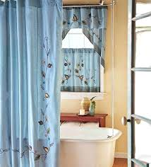 shower curtains with window curtains to match medium size of short bathroom curtains bath and bathroom