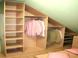 sloped ceiling clothes rod bracket sloped ceiling closet closet ideas for sloped ceilings size closet organizers