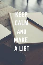 Image result for making a list