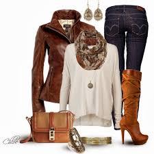 stylish leather jacket outfit idea via