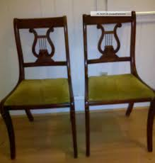 antique dining room chairs. Duncan Phyfe Dining Chairs Two 2 Vintage Lyre Harp Simple Room Antique