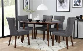 dark wood for furniture. Suffolk Oval Dark Wood Dining Table - With 4 Bewley Slate Chairs For Furniture