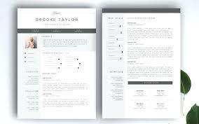 Two Page Cv Template 2 Resume Blog One Free Download Thekindlecrew Com