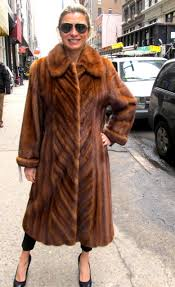 just reduced pre owned cognac dyed female mink coat size 8 10