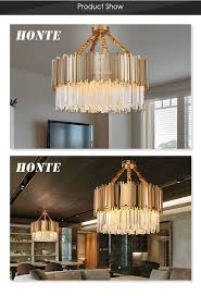 2 Layer Modern Gold Plated Round Iron Chandelier Crystal Led Pendant Light For Villa Decoration Buy Luxury Crystal Chandeliercolored Crystals For