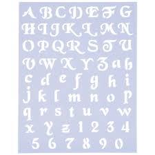 script alphabet stencils hobby lobby