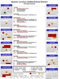 180 Days Of School Chart District Calendar Ajusd Academic Calendar