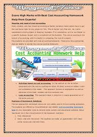 Cost Accounting Accounting Assignment Help and Accounting Homework     Financial Accounting Homework Help Help With Academic Papers Buy essay  online safe Ssays for sale Model