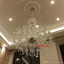 modern large crystal chandelier for foyer big crystal chandelier church hall led chandelier duplex building stairacse crystal pendant lamps chandeliers