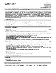 operations manager cv field operations manager resume template premium resume samples