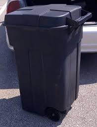 Outdoor Trash Can With Wheels Adorable Outdoor Trash Cans With Wheels Clever Can 32 Creative Ways To Hide