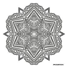 Small Picture Mandala Coloring Online coloring page