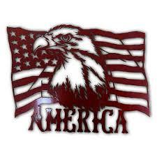 home décor american flag eagle metal
