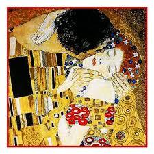 Art Deco Cross Stitch Charts Counted Cross Stitch Chart Graph Art Nouveau Artist Gustav Klimts The Kiss Detail