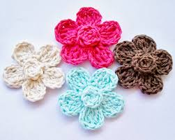 Free Crochet Flower Patterns Simple Flower Girl Cottage Free Crochet Flower Pattern