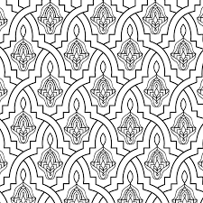 Islamic Colouring Pages Printable With Moroccan Tile Coloring Page