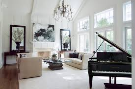 los angeles 2 story living room traditional with chandelier halogen flush wood floor