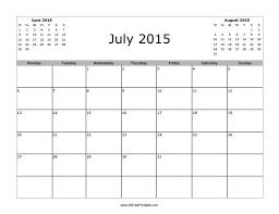 July 2015 Calendar Free Printable Allfreeprintable Com