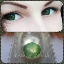 зелёные линзы для глаз Green 1