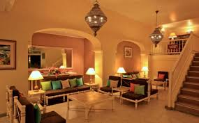 interior lighting. Interesting European Luxury Home Interior Lighting Night Rendering D House With Design.