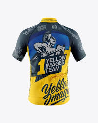 Completely organized psd file with smart layers, each measuring 1250 x 1500 px at 300 dpi. Men S Full Zip Cycling Jersey Mockup Back View In Apparel Mockups On Yellow Images Object Mockups Clothing Mockup Cycling Jersey Mockup Free Psd