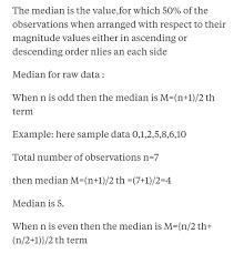 What Is Median Math Probability 13535478 Meritnation Com