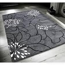 new blossom grey black white extra large quality home rug 160x230cm b01109robw