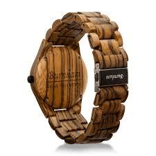 argonaut swiss movement wooden watch