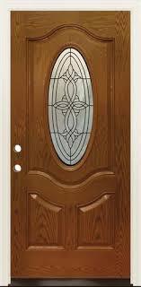 mastercraft 36 w x 80 h prefinished woodgrain fiberglass oval lite exterior door