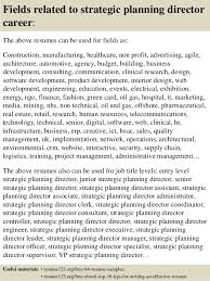... 16. Fields related to strategic planning ...