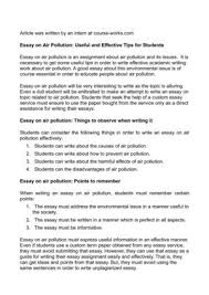 calam atilde copy o essay on air pollution useful and effective tips for essay on air pollution useful and effective tips for students