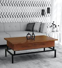 trestle solid wood coffee table