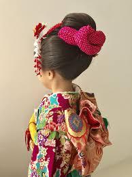七五三の7歳のお嬢様新日本髪で 新日本髪ヘアスタイル和装ヘア