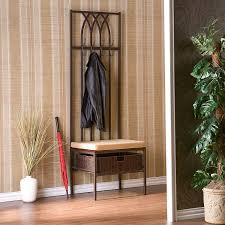 Hall Stand Entryway Coat Rack And Storage Bench Amazon Southern Enterprises Tristan Hall Tree Entry Bench Dark 24