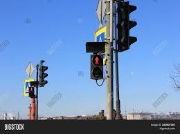 What Is Blue Light On Traffic Signal Red Traffic Light On Image Photo Free Trial Bigstock